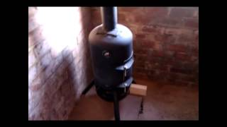 Gas Bottle Wood Burning Stove Part 4.wmv