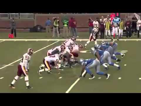 Ndamukong Suh TD on Rex Grossman Fumble Lions vs Redskins 2010