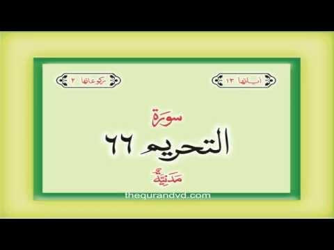 66. Surah  At Tahrim with audio Urdu Hindi translation Qari Syed Sadaqat Ali