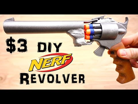 Homemade Nerf Gun Revolver (Easy $3)