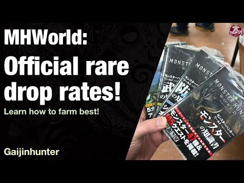 Monster Hunter World: Official Rare Drop Rates