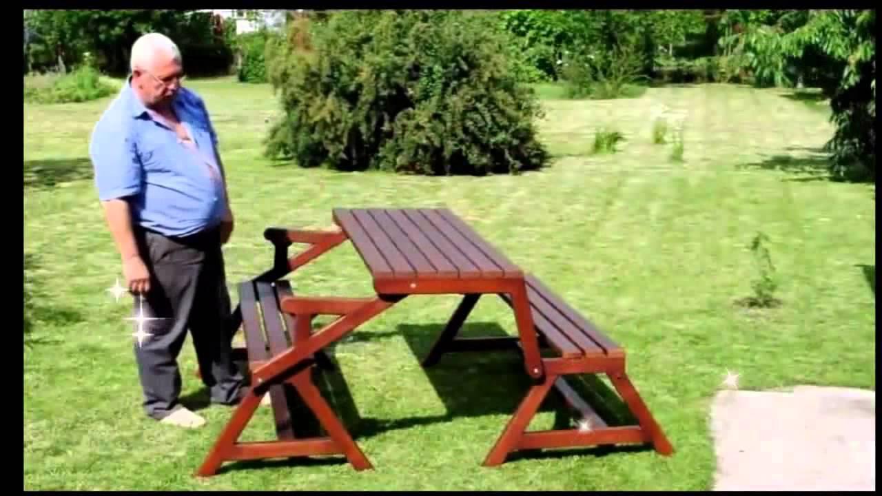 Раскладная стол скамейка своими руками