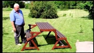 Скамейка, которая легко превращается в стол