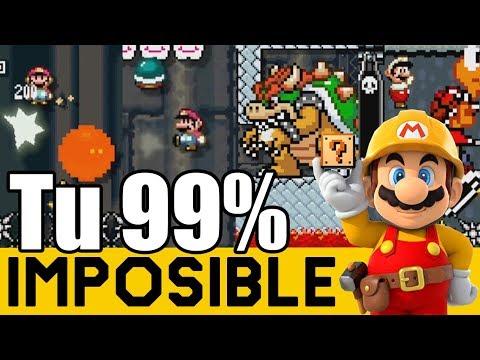 UN VERDADERO NIVEL DE DRAGON BALL Z 👊 - 99% IMPOSIBLES de Suscriptores #24 | Mario Maker