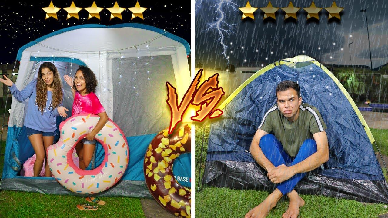 Download ACAMPAMENTO 5 ESTRELAS VS 1 ESTRELA! - MUITO ÉPICO!