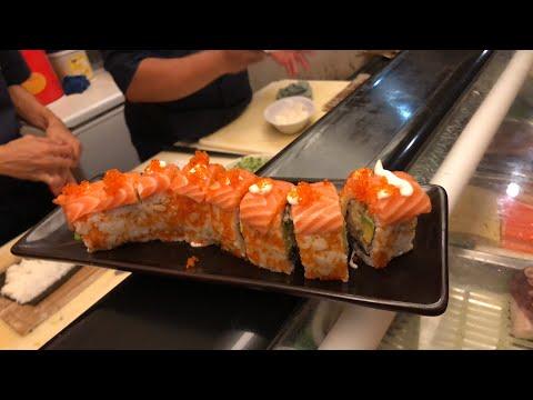 Ceritanya Food Vlogger Kuliner Sushi Matsu - Wasabi Challenge 🍣  TheRempongs