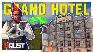 SURVEY CHARGE RAIDING everyone in RUST?! - Skin Giveaway + Stealing a Base from Clan (Modded Server)