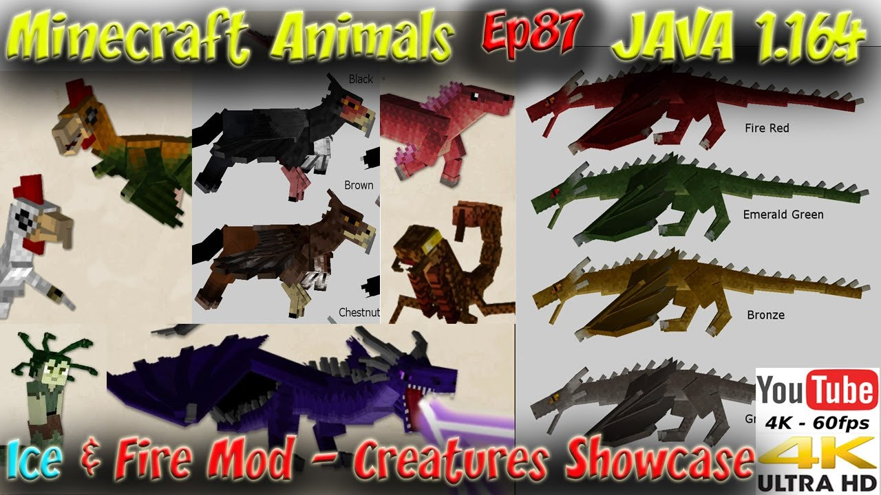 ICE and FIRE Mod 1 16 5 Showcase Dragons and Minecraft Creatures