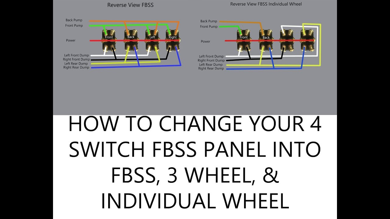 hight resolution of how to change 4 switch fbss to multiple function russell harris lowrider hydraulics