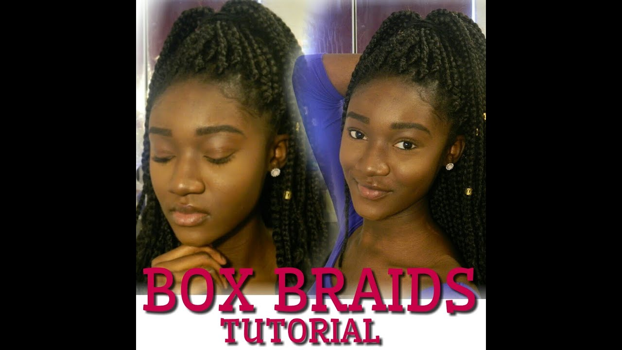 Start To Finish Box Braids Tutorial 3 Braiding Techniques