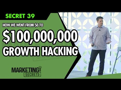 Secret #39: How We Went From $0 To $100,000,000 Using Growth Hacking And Sales Funnels