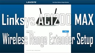 unboxing and setup of linksys ac1200 max wireless range extender