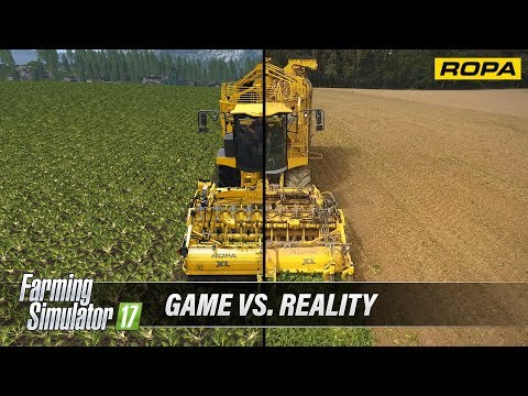 Farming Simulator 17 ROPA DLC  - Game vs Reality Comparison