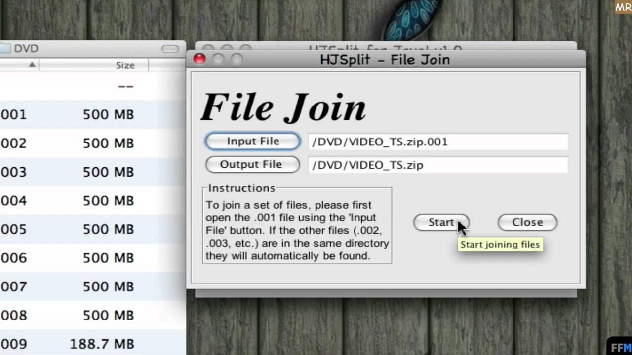 Split  Zip file Free on Mac-MR