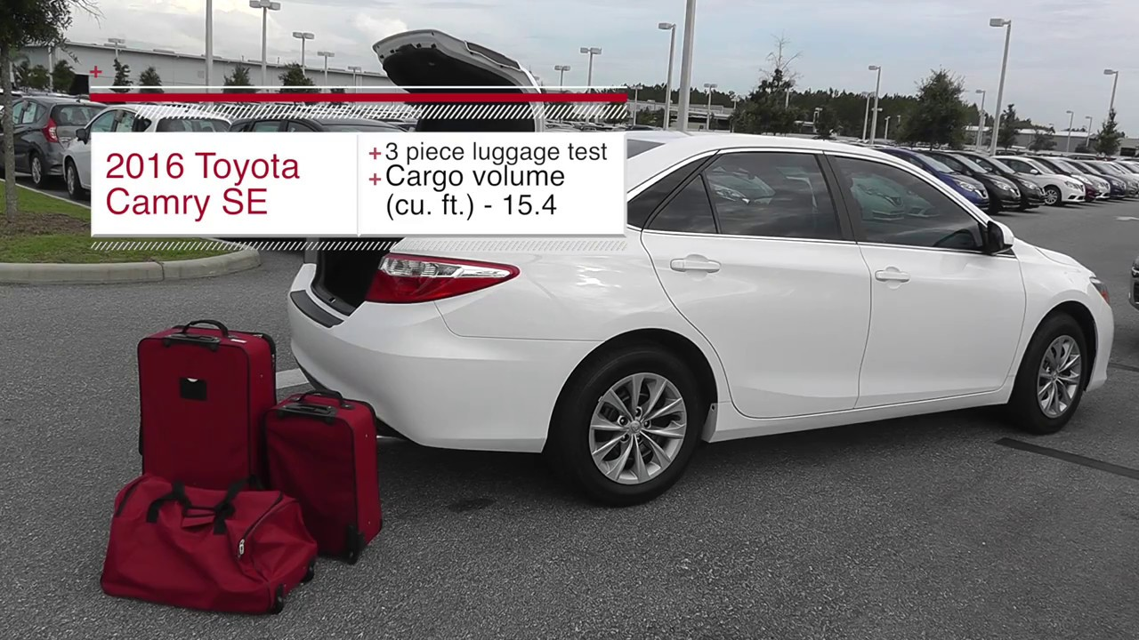 3 Piece Luggage Test 2016 Toyota Camry Se