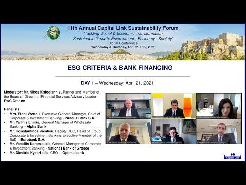 2021 11th Annual Capital Link Sustainability Forum - ESG Criteria & Bank Financing