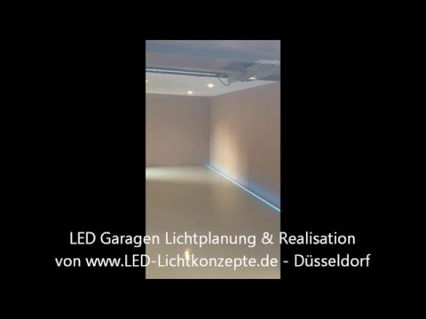 luxus garagenbeleuchtung mit led von led lichtkonzepte d sseldorf youtube. Black Bedroom Furniture Sets. Home Design Ideas