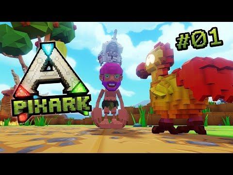 PIXARK #01 🍄 ONKEL INGEBORG & die Klötzchen Dinos • PixARK Deutsch, Gameplay German