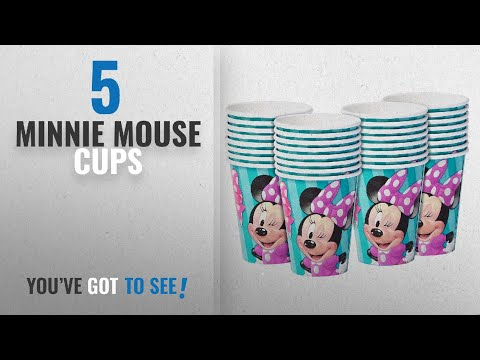 Top 10 Minnie Mouse Cups [2018]: American Greetings Minnie Mouse Paper Cups (32 Count), 9 oz