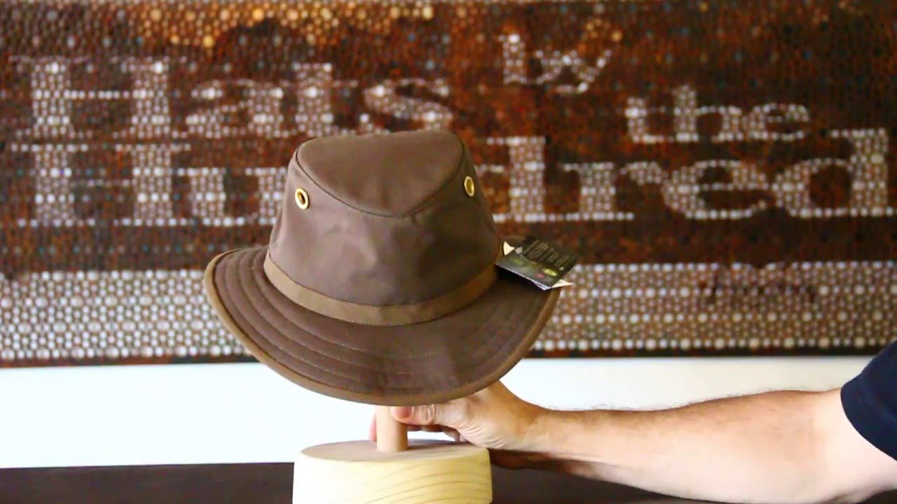 Tilley Endurables TWC7 Outback Oilskin Hat- Hats By The Hundred Review 16acd65b083