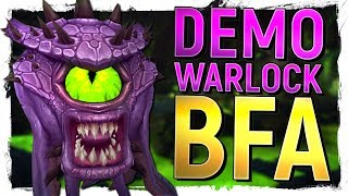 BIG REVAMP The NEW Demonology Warlock in Battle for Azeroth Alpha - World of Warcraft