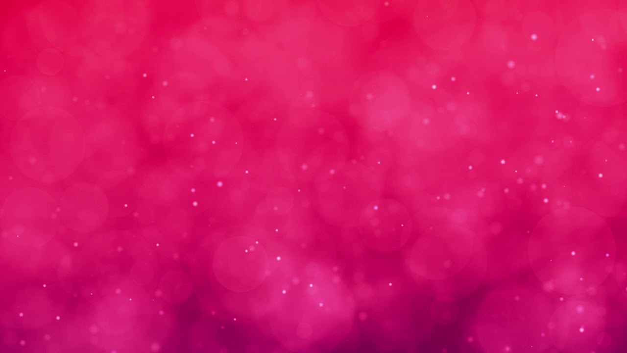 Abstract Romantic Motion Background In Red Pink Colors Particles
