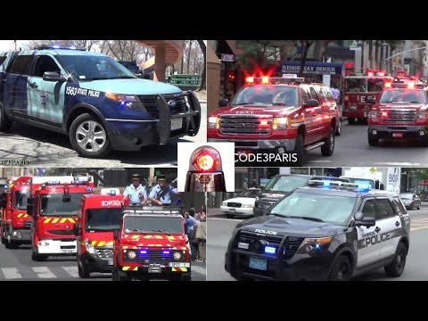 Police Cars, Fire Trucks, Ambulances Responding Compilation - Sirens, Lights  // BEST OF 2016 //