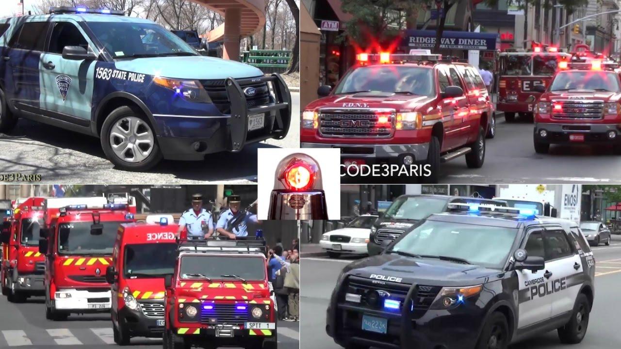Police Cars, Fire Trucks, Ambulances Responding Compilation - Sirens, Lights  // BEST OF 2016 //