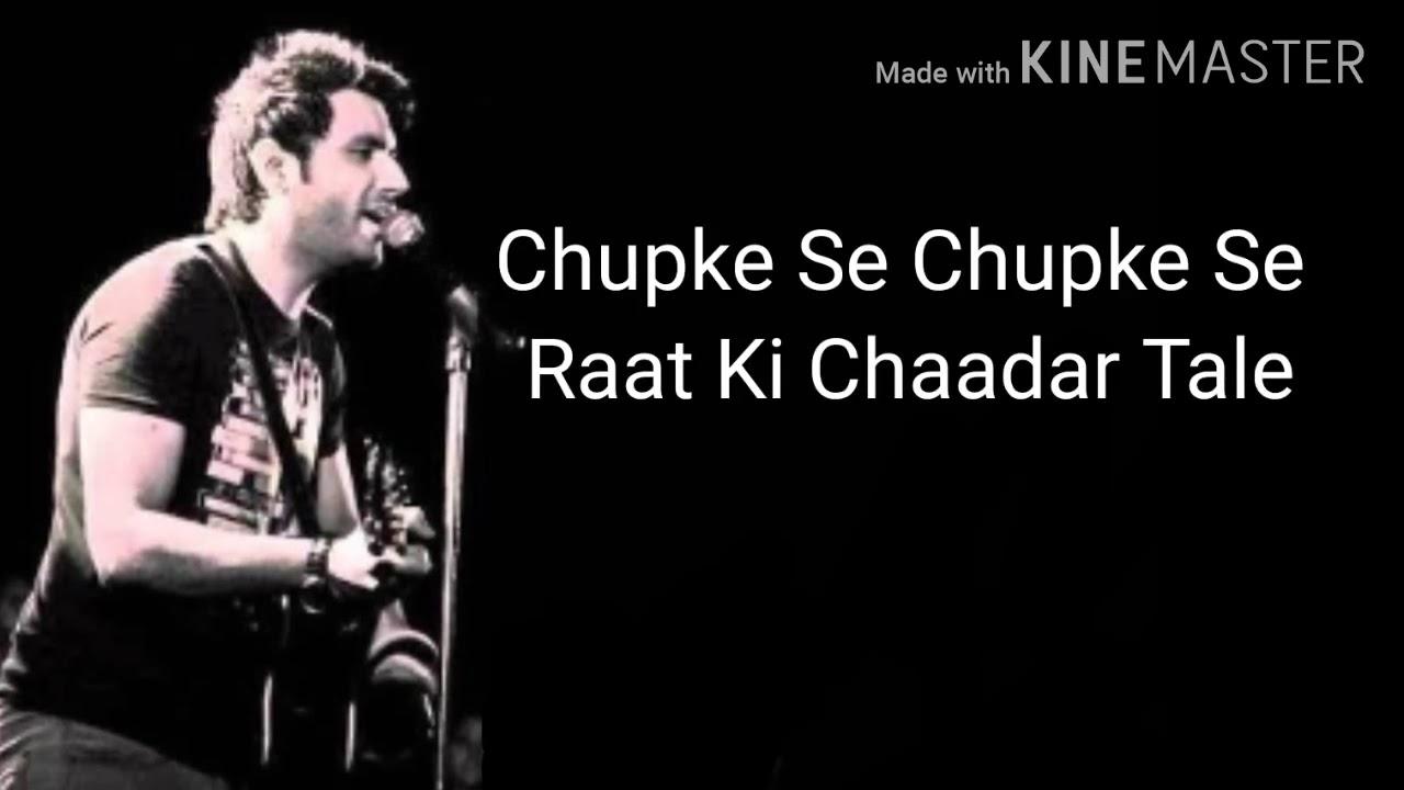 Download Chupke Se |Lyrics |Mustafa Zahid | Unplugged|Cover |A.R Rahman|Saathiya