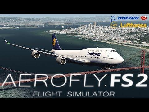 AEROFLY 2 FLUGSIMULATOR ★ Boeing 747-400  Lufthansa I L.A. - San Francisco [Deutsch/HD]
