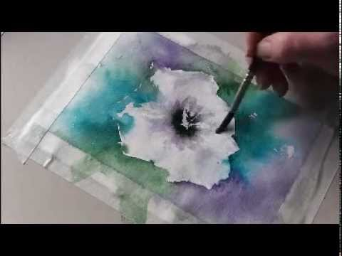loose watercolor lesson tutorial using squirrel mop from