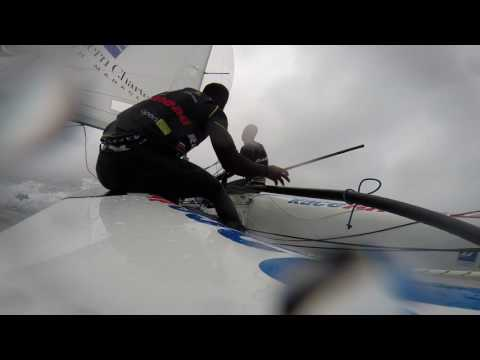 RSA 470 Olympic Team - training in strong North Westerly