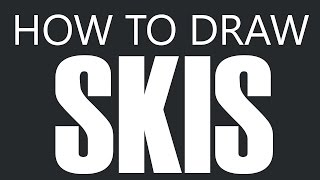 How To Draw Skis - Freestyle Downhill Ski Drawing (Competition Racing Skis)