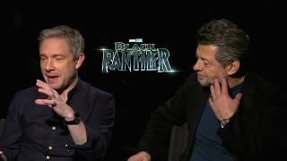Martin Freeman, Andy Serkis discuss being the 'minority' on set of Black Panther