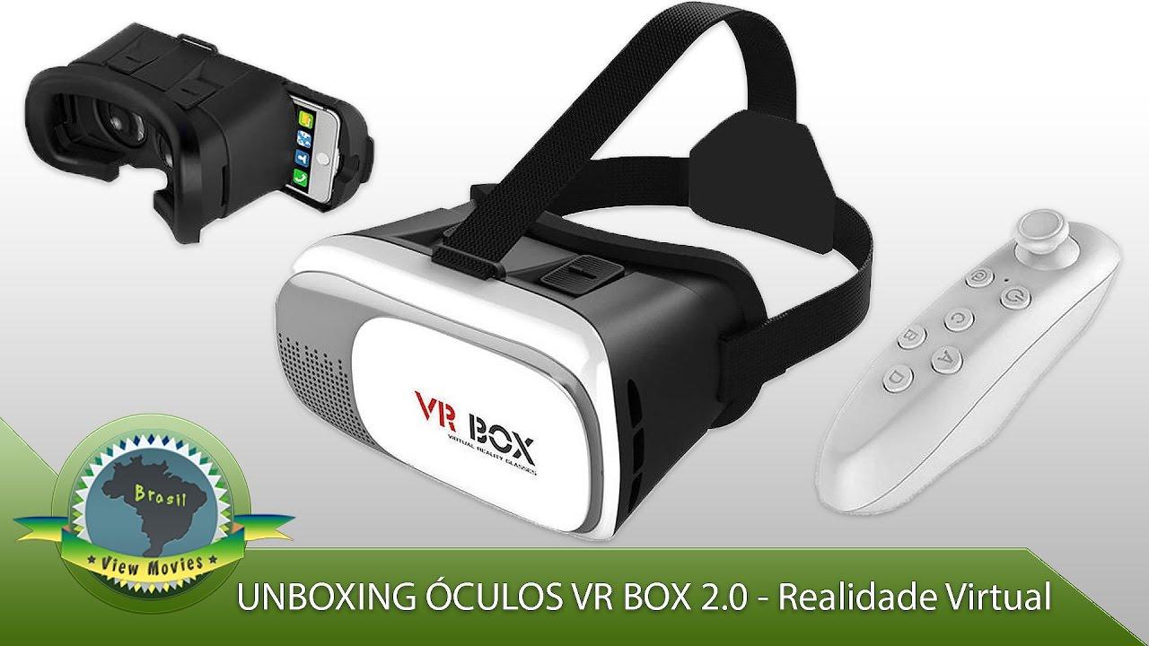 2e0d4b6bb1dcc Unboxing Óculos VR BOX 2.0 Realidade Virtual