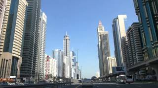 Driving down SZR, First Gulf Bank Metro to Airport