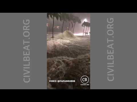 Flash Flooding On Kalanianaole Highway April 13, 2018