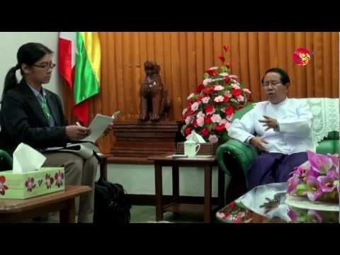 Irrawaddy Editor Aung Zaw Interviews Burmese's Information Minister (1)