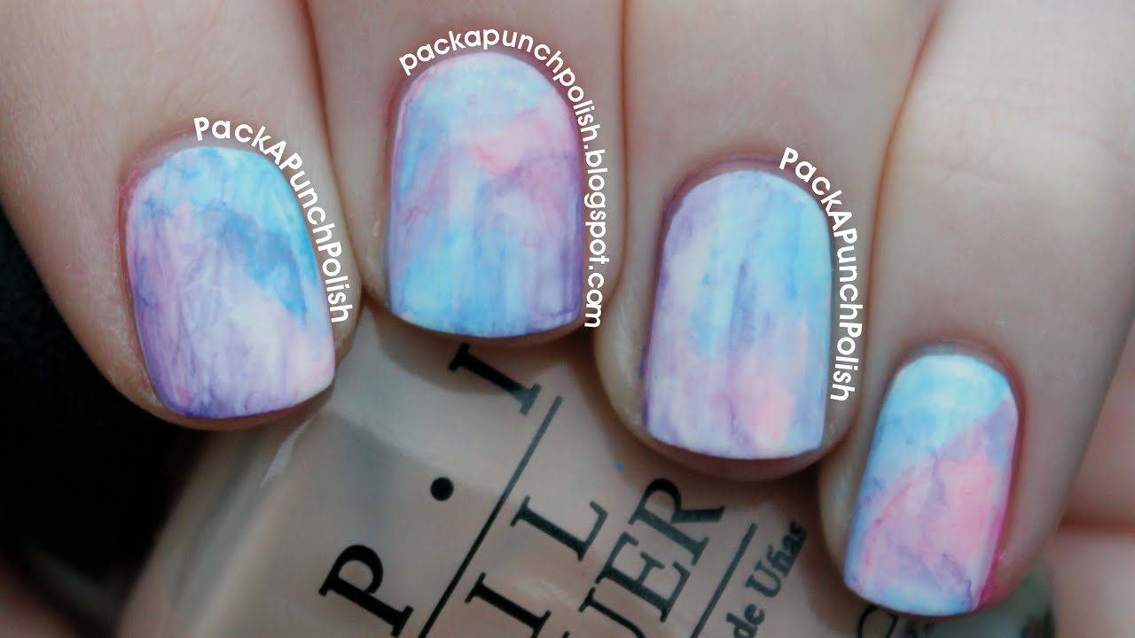 watercolor nail art tutorial