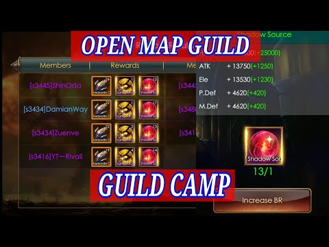 OPEN MAP GUILD CAMP! LEGACY OF DISCORD