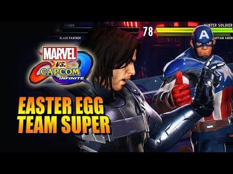 CIVIL WAR Hidden Team Super: Winter Soldier X Captain America (Marvel Vs. Capcom Infinite)