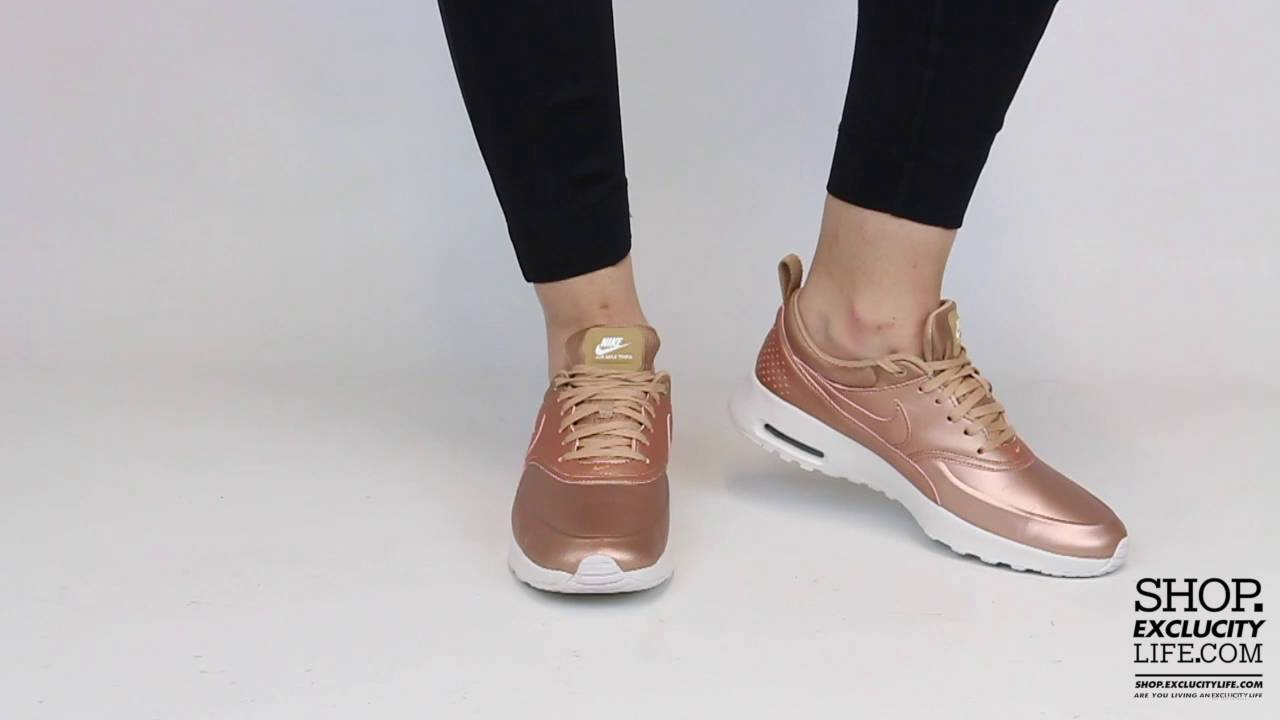 Women's Air Max Thea Premium Metallic Bronze On feet Video at ...