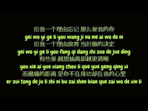 黄丽玲 (Huang Li Ling / A-Lin) - 给我一个理由忘记 (Simplified Chinese/ Pinyin Lyrics HD)