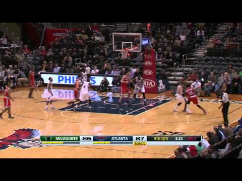 Milwaukee Bucks vs Atlanta Hawks | March 13, 2014 | NBA 2013-14 Season