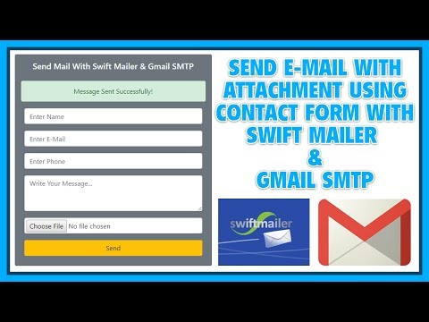 Send Email By Contact Form With Attachment Using Swift