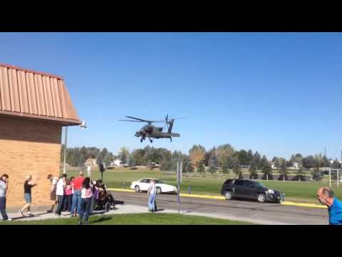 Apache landing in Skyline School