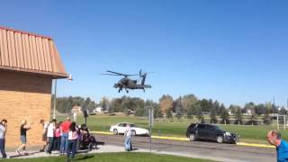 Apache landing in Skyline School