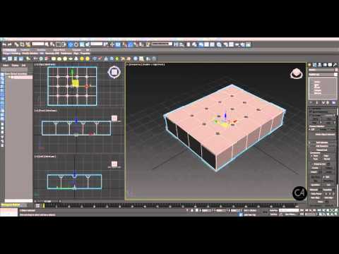 3D Studio Max - Barcelona Chair Modelling