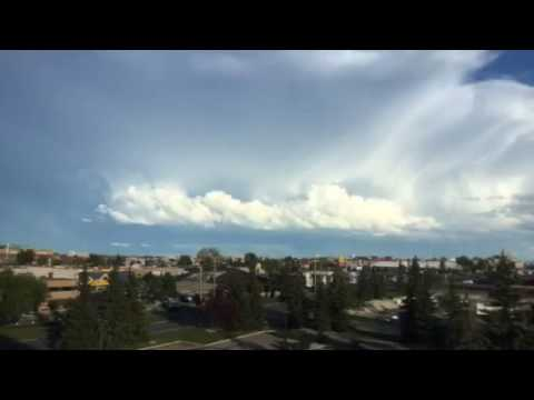 Amazing Timelapse Of Post Hailstorm In Calgary East July 3, 2016