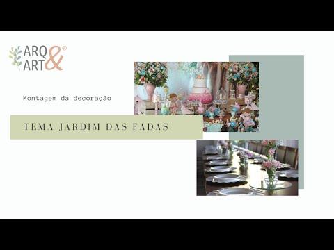 Montagem decoração de festas - Tema Jardim das Fadas